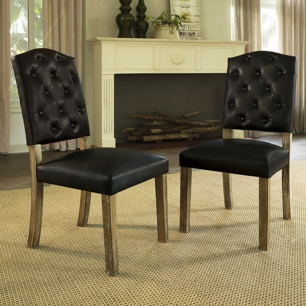 Captivating ... Dorel Living 2 Rustic Wood Dining Chairs   $142 ...